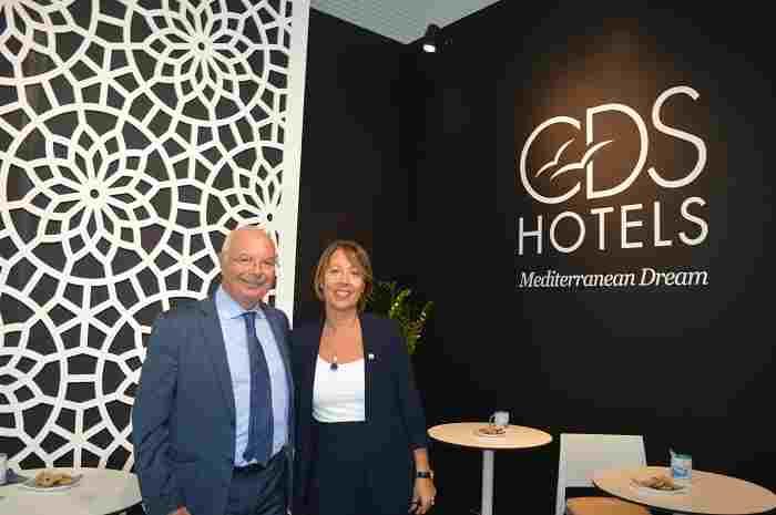 Ada Miraglia con l'amministratore delegato di CDSHotesl Vante Totisco
