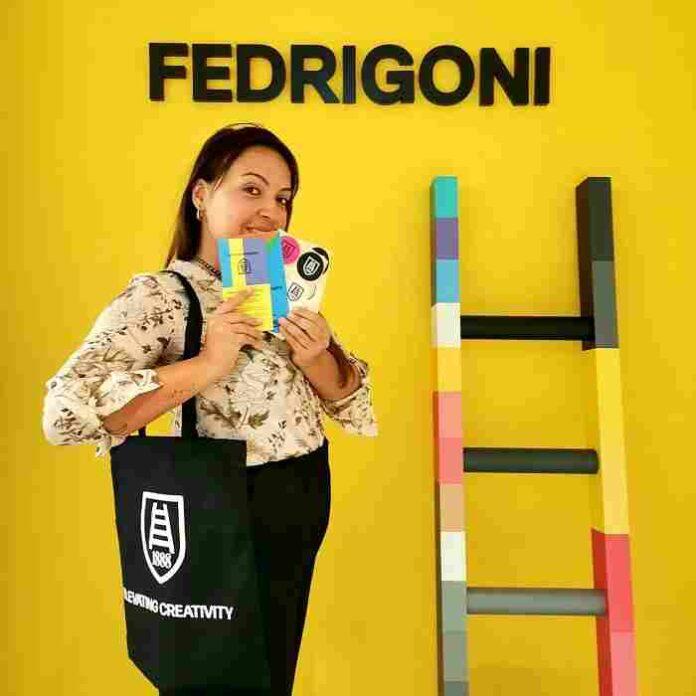 Fedrigoni rebranding foto ambientata scala