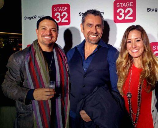 a Los Angeles Max Leonida assieme a Richard Botto e ad Amanda Toney, fondatori del celebre Stage 32 Los Angeles MaxStorico 006