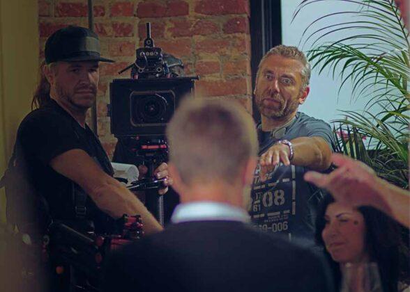 a Los Angeles Max Leonida con il suo direttore della fotografia, sul set di Beauty in the Broken MaxStorico 012