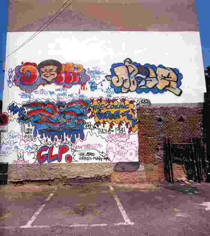 2 Il muro appena realizzato nel 1984 da Phase 2, Delta 2 ed Ero