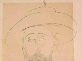 Amedeo Modigliani, Portrait de Paul Dermée, circa 1918 1920, matita su carta
