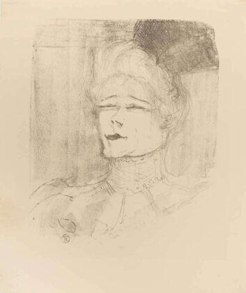 Henri De Toulouse Lautrec, Jeanne Granier, 1898, litografia, 293x240 mm, 400 esemplari, Wittrock