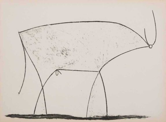 Pablo Picasso, Le taureau (XI stato 17 01 1946, 1945, litografia, 290x375 mm, 68 esemplari, Mourlot n.17