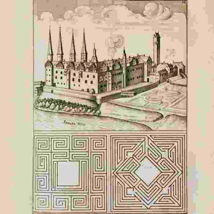 2 Labirinti 5 Georg Andreas Böckler Prospetti e progetti di giardini delle residenze reali di Altenburg 1664
