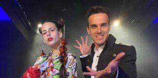 Nicole Rossi e Luca Bono al Circolo Amici della Magia di Torino per le riprese di PlayMag