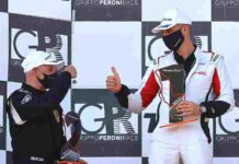 PCGT Il bolognese Formato e il milanese Rigo podio Panta GT4 Imola2021