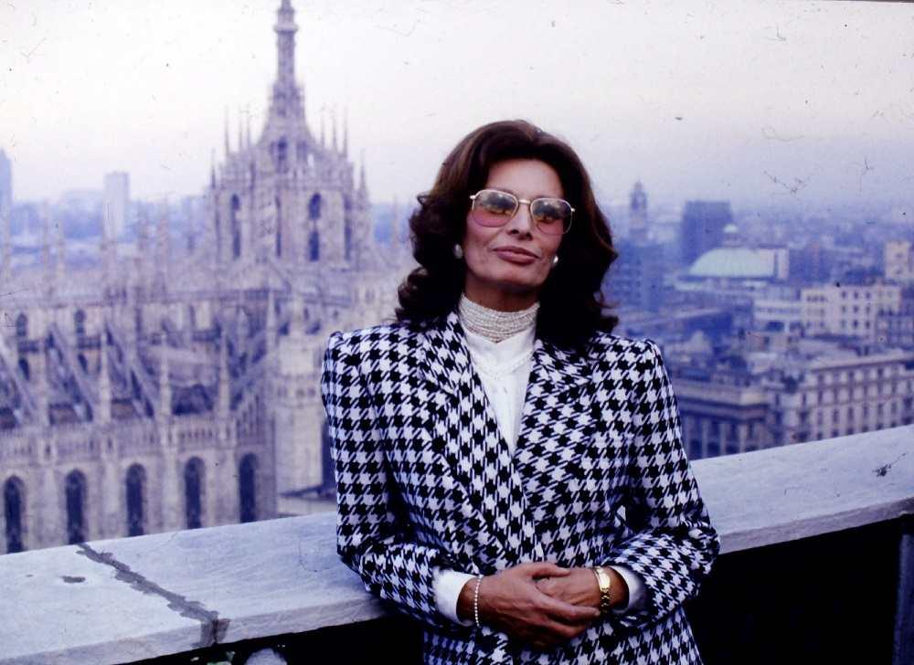 Sofia Loren, a Milano sulla Terrazza Martini
