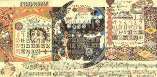 Sylvano Bussotti, Calendario Giapponese, pittografia per 12 strumenti, 1992, particolare