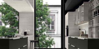 Cucina moderna Chantal bianco e nera Febal