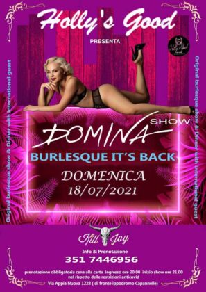 Locandina Domina Burlesque del 18 luglio 2021