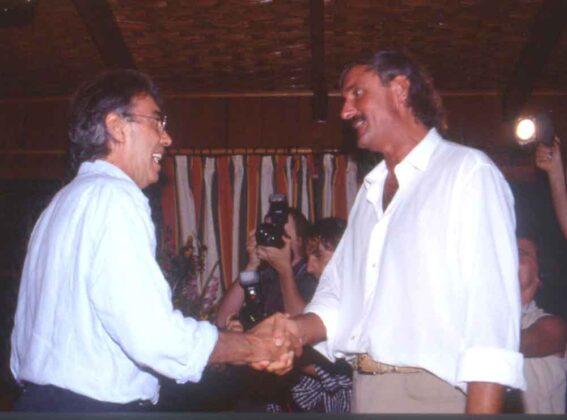 Moratti con Maurizio Mian alla Capannina del Forte