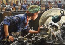 Ruby Loftus screwing a Breech ring (1943) (Art. IWM LD 2850