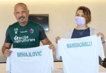 Sinisa Mihajlovic e la presidente degli infermieri Barbara Mangiacavalli