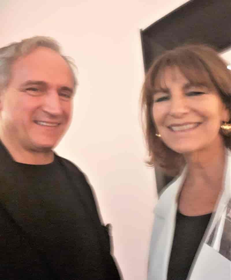 Sergio Bevilacqua con Anna Maria Montaldo, Direttrice Museo del Novecento di Milano e curatrice della mostra insieme a Elena Pontiggia
