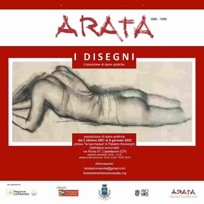 avviso mostra F. Arata
